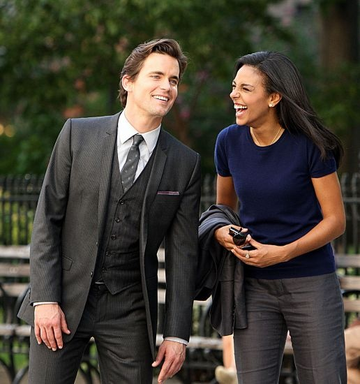 Matt and Marsha laughing it up. I wish those moments appeared on the show!