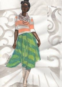 fashionillustrationtribe laura volpintesta afw designer african fashion week runway illustration gouache#online fashion illustration and design INTENSIVE immersion course experience! Check it out!! I'm here for you. $750 tuition for a limited time includes your art supplies for fashion designers kit shipped to you. 15 week online semester created by Parsons fashion faculty of 17 years.