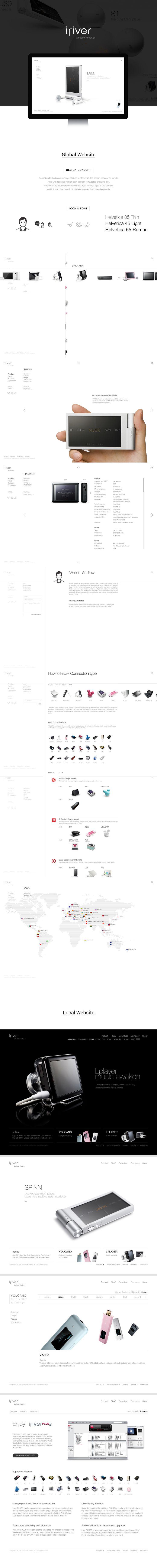 iriver Website Renewal on Behance