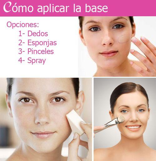 aplicar base maquillaje