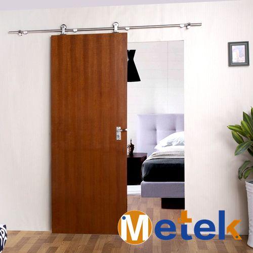 De acero inoxidable sistema de puertas correderas de madera granero