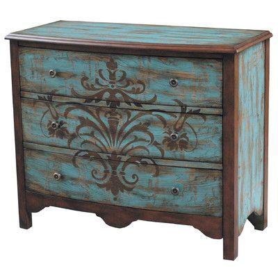 Furniture stencil-Information on enlarging stencils,graphics for furniture below pic.. Great info!