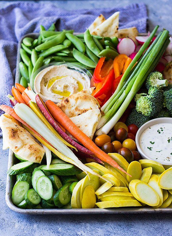 how to make a veggie tray