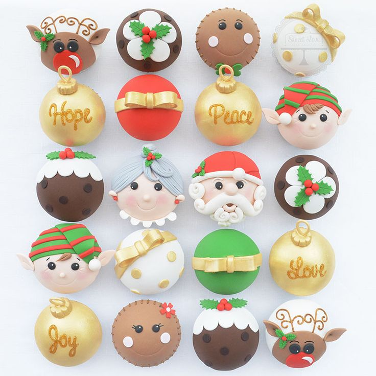 Christmas cupcakes with Santa and his helpers