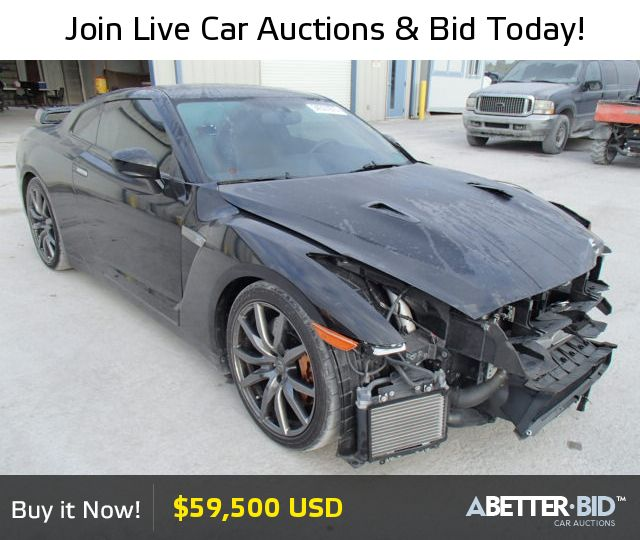 Salvage  2014 NISSAN GTR for Sale - JN1AR5EF8EM270195 - https://abetter.bid/en/34327875-2014-nissan-gtr