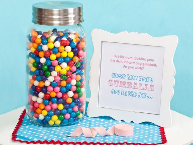 """""""Bubble gum, bubble gum, in a dish. How many gumballs do you wish?"""" Guess the amount, too cute!"""