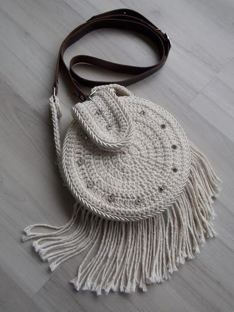".: Crochê: Bolsa tiracolo ""Bohochic"""