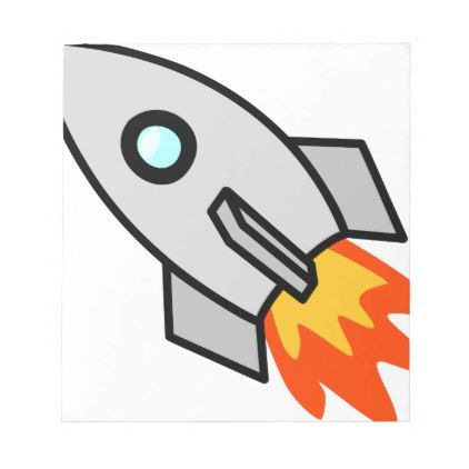Toy Rocket Notepad - drawing sketch design graphic draw personalize
