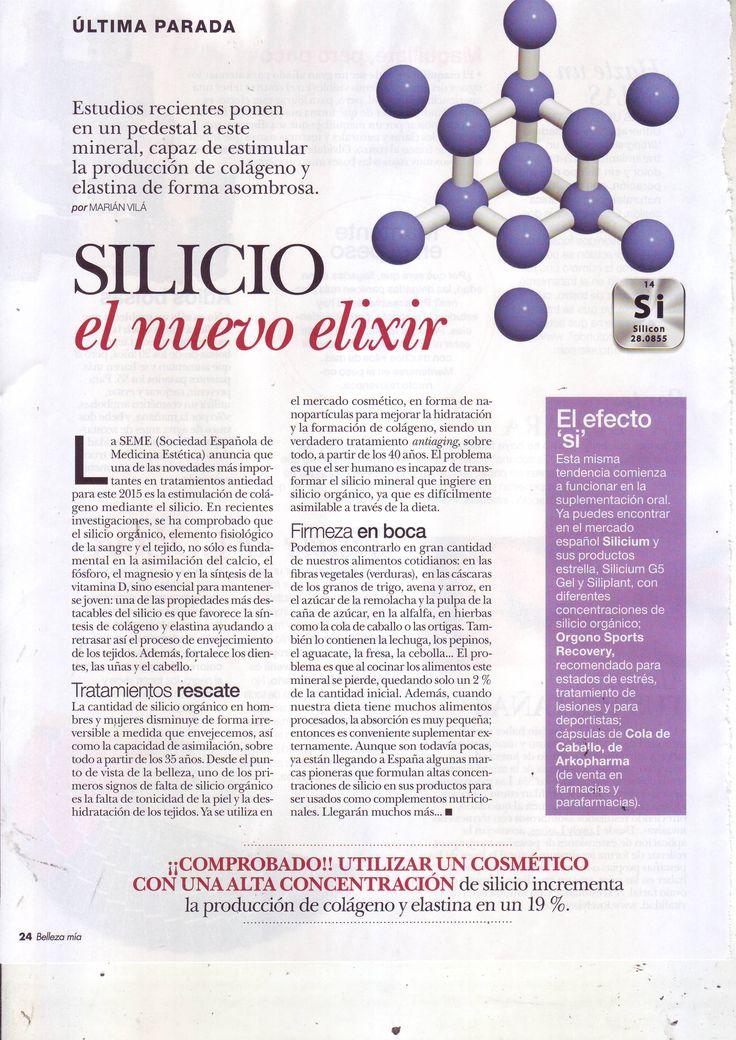 MÍA BELLEZA - Artículo sobre los beneficios del silicio orgánico para la piel #elixir #piel #crema #silicioorgánico