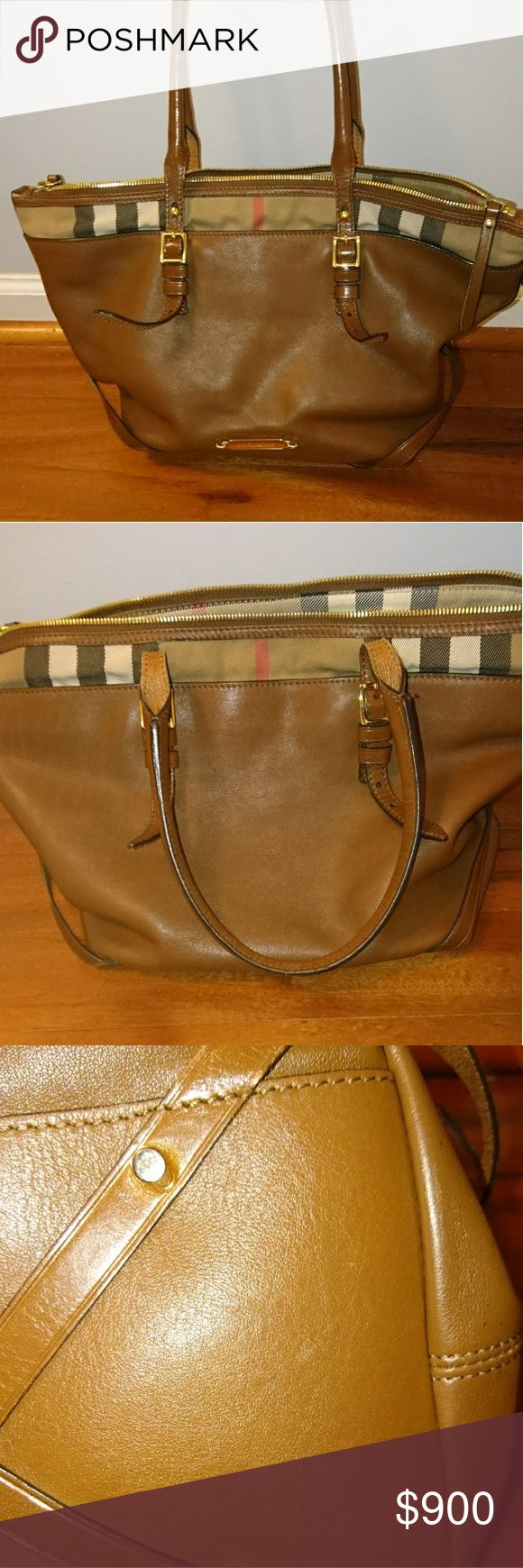 MUST GO! Burberry Medium Salisbury Tote Brown grainy leather medium Salisbury tote from Burberry. Gently used, bought from posh and had it authenticated so it is 100% authentic. Few scrapes on the bottom and small scratches from hardware onto leather and on hardware itself. Beautiful bag in EUC! Posh will authenticate over 500$.  Willing to negotiate!  Burberry Bags Totes