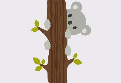 Today I'm going to show you how to create a koala climbing on a tree. It's easy and fun tutorial for those who just started to learn Adobe Illustrator. | Difficulty: Beginner; Length: Medium; Tags: Character Design, Adobe Illustrator, Illustration, Animals