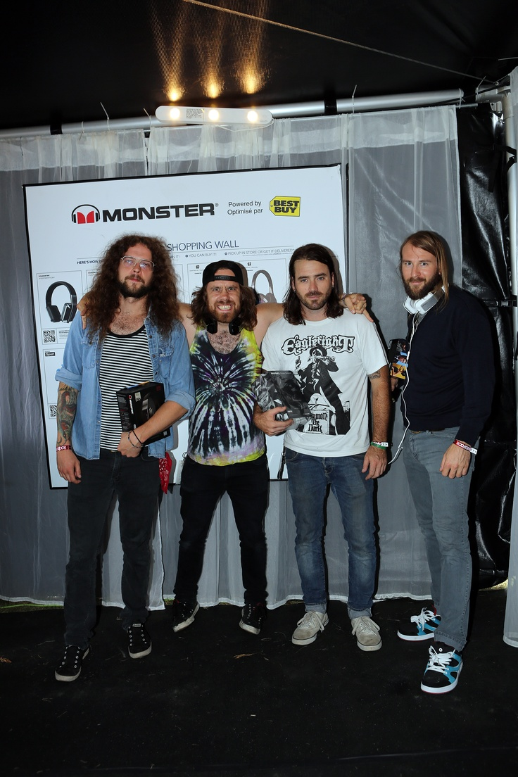 The band Monster Truck stops by the Best Buy/Monster Listening Lounge at Wakestock in Collingwood Ontario