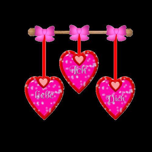 Ενσωμάτωση εικόνα ροζ καρδιές από ροζ καρδιές σε μια Εικόνα ιστοσελίδας