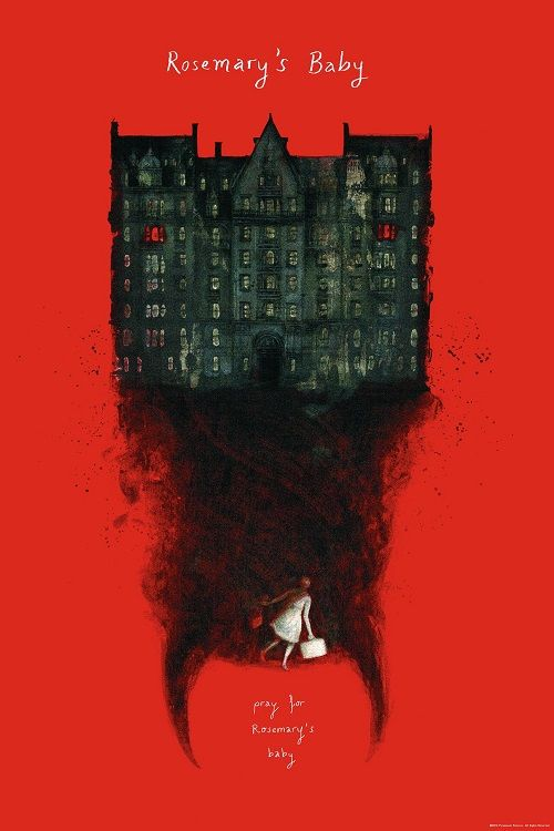 """kogaionon: """"  Rosemary's Baby by Jana Heidersdorf / Facebook / Behance / Twitter / Tumblr / Instagram / Etsy / Society6 24"""" x 36"""" officially licensed screen print, numbered edition of 100. Available from Bottleneck Gallery on Monday, October 31st at..."""