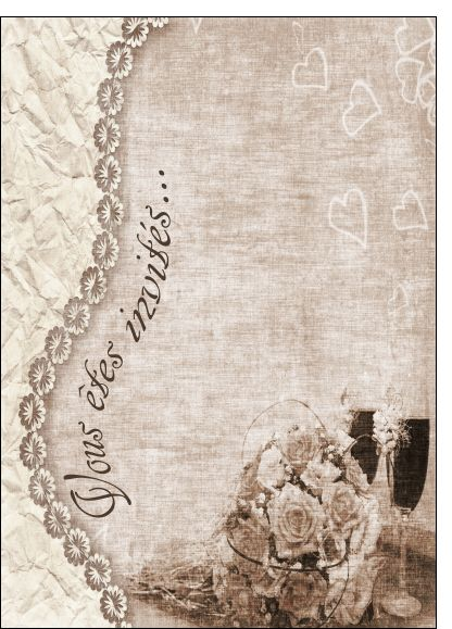 Carte ancienne invitation mariage pour envoyer par La Poste, sur Merci-Facteur !