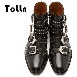 2016 Luxury Brand Women Winter Shoes Ankle Leather Studded Boots For Women Fashion Ladies Motorcycle Boots Women Gothic Shoes (32749727894)  SEE MORE  #SuperDeals