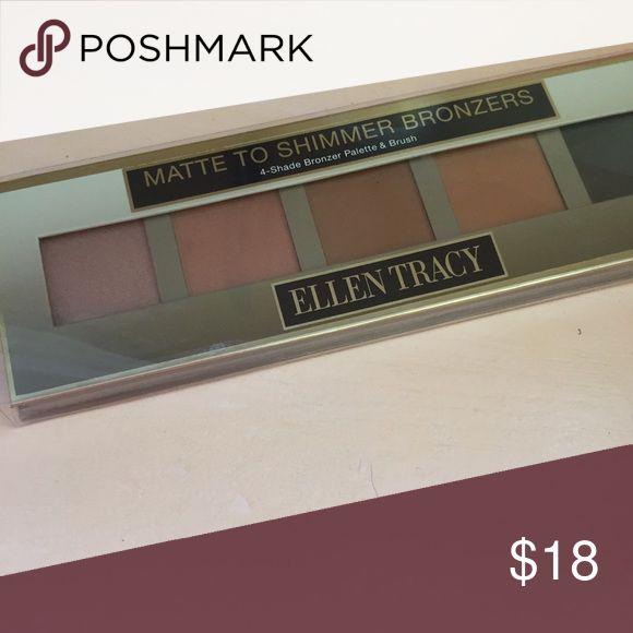 LAST CHANCE MATTE TO SHIMMER BRONZER 4 color bronzer and a brush Ellen Tracy Makeup Bronzer