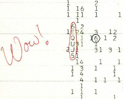 The Wow! Signal  One summer night in 1977, Jerry Ehman, a volunteer for SETI, or the Search for Extraterrestrial Intelligence, may have become the first man ever to receive an intentional message from an alien world. Ehman was scanning radio waves from deep space, hoping to randomly come across a signal that bore the hallmarks of one that might be sent by intelligent aliens, when he saw his measurements spike.