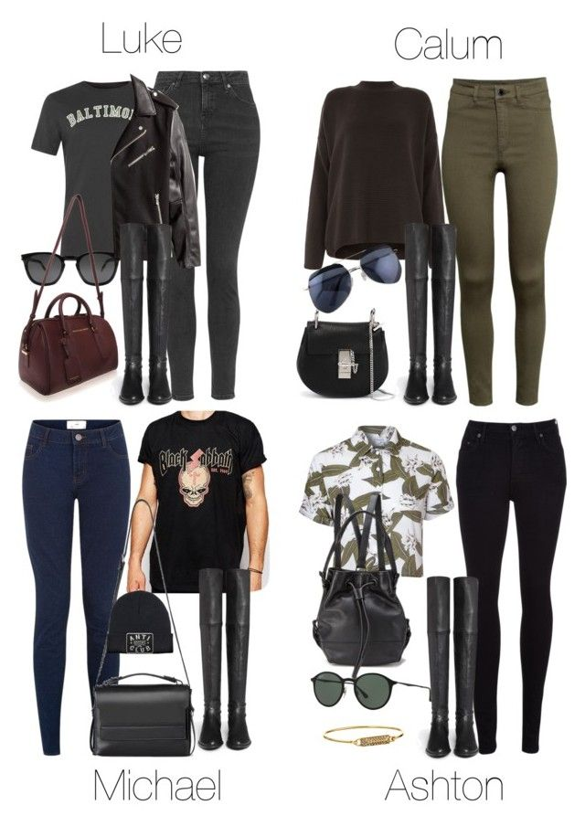 """""""5SOS Styles: Thigh High Flat Leather Boots"""" by fivesecondsofinspiration ❤ liked on Polyvore featuring Reclaimed Vintage, Stuart Weitzman, Glamorous, AllSaints, Citizens of Humanity, Opening Ceremony, Ray-Ban, Rebecca Minkoff, H&M and Chloé"""