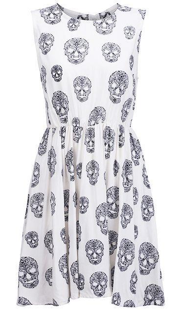 Skull dress! For Halloween?