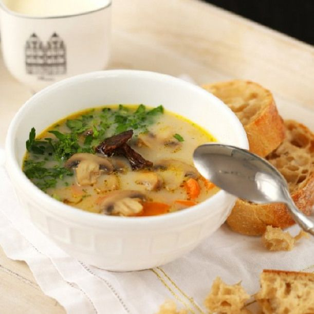 Mushroom Soup Mushroom Soup In Polish With Translation Stew Soup Recipes Soup Stuffed Mushrooms Recipes