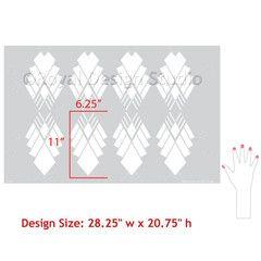 Art Deco Stencils | deco diamond stencil $ 46 95 default title tweet allover pattern ...