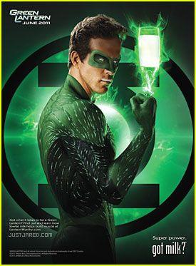 Got Milk? Ryan Reynolds: 'Green Lantern'