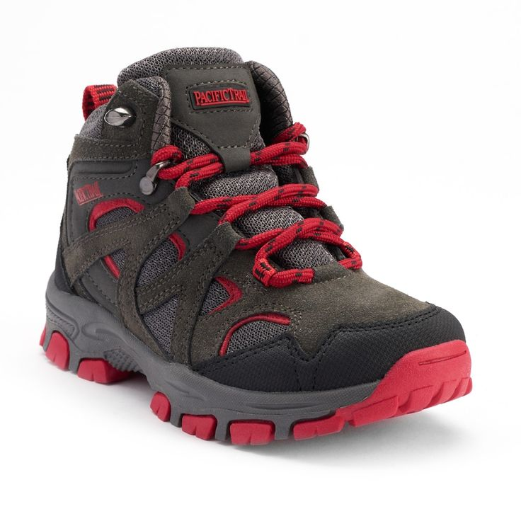 Pacific Trail Diller Light Boys' Hiking Boots, Size: 5, Dark Grey