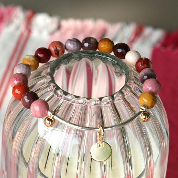 Bracelet jonc argent Bracelet femme bracelet mookaite