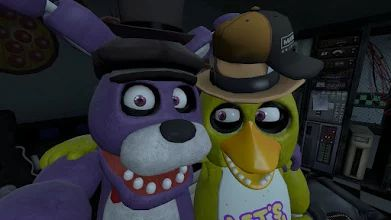 الصورة: Sfm - Bonnie x Chica. From Aurianna2000