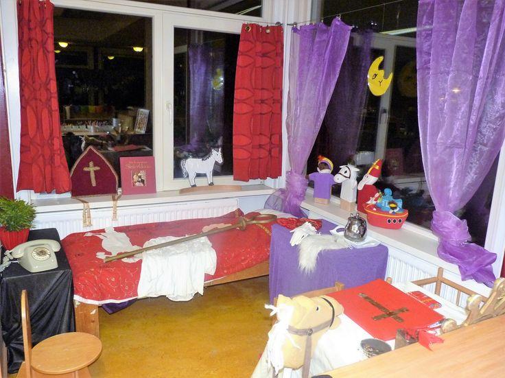 De slaapkamer van Sinterklaas op de Prins Clausschool