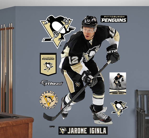 Fatheadu0027s Sidney Crosby Teammate Is A Small Decal Perfect For Pittsburgh  Penguins Fans Looking To Show Off Fandom On A Locker, Notebook Or Any Small  Area.