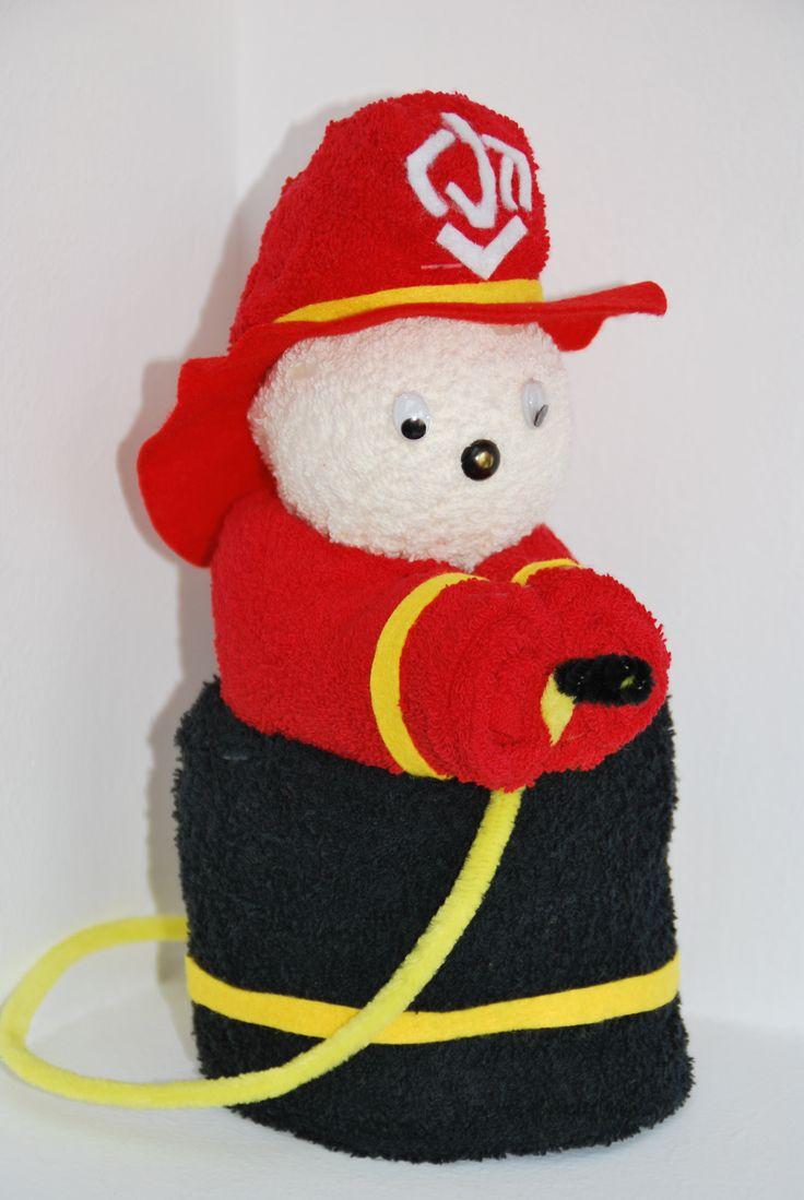 Handdoek brandweerman