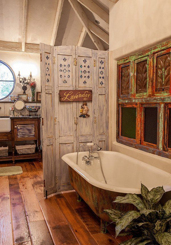 """Classic bath tabs will take great place in this kind of ambience. Checkout """"30 Shabby Chic Bathroom Design Ideas To Get Inspired""""."""