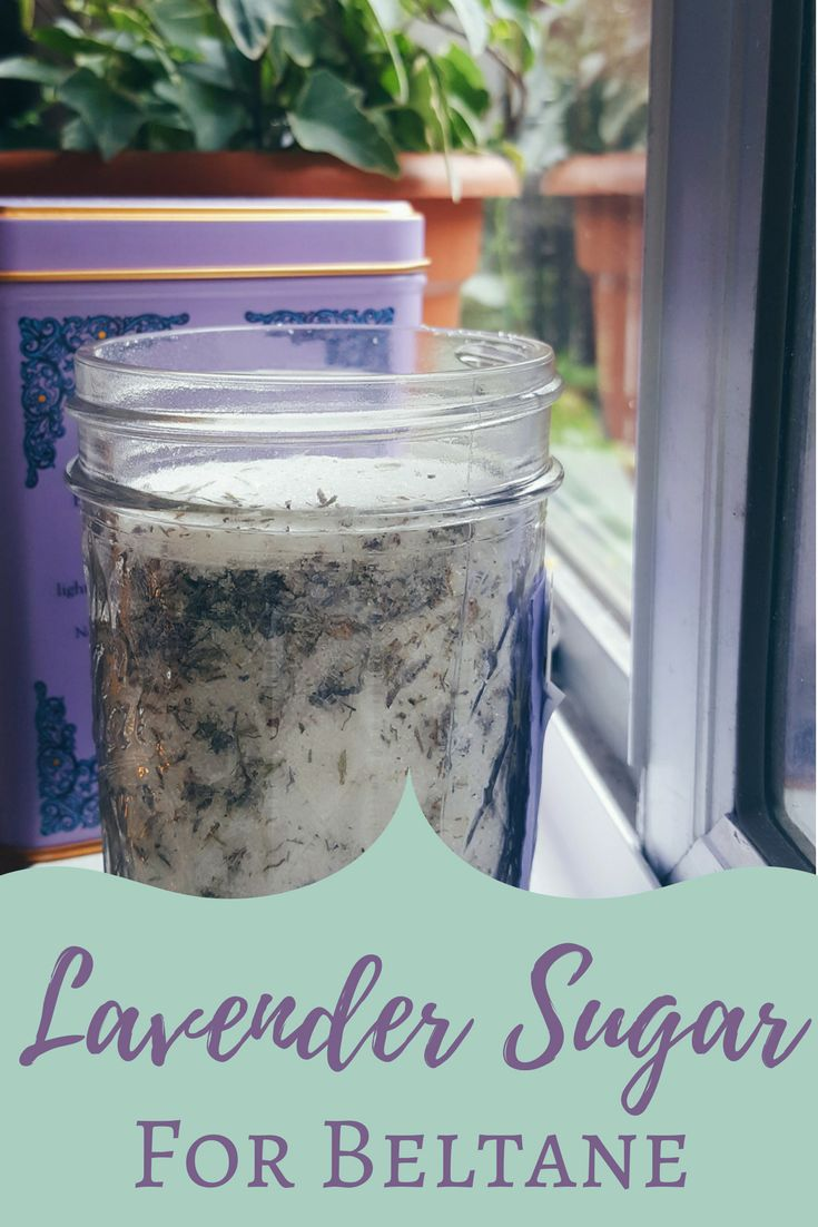 Lavender Sugar Recipe for Beltane | The Witch of Lupine Hollow