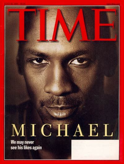 Michael Jordan - June 1998, one of Time's most popular covers.