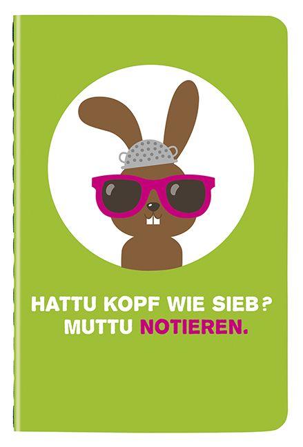 Hattu Haeschen Mini-Notizbuch
