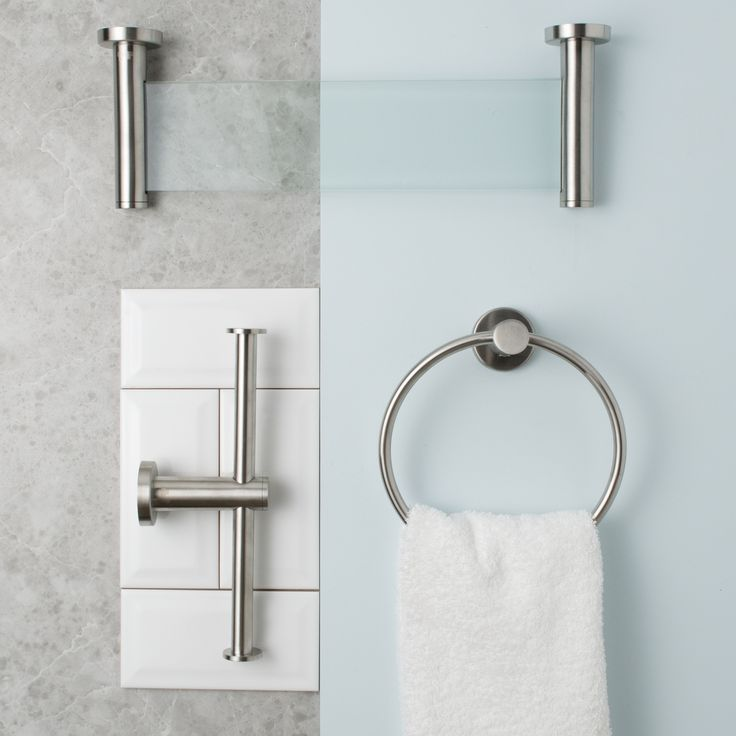 Modernise the classic bathroom by adding a splash of pale blue on the walls. This will also brighten up the space while adding a touch of character. Complement the overall look with our Brushed Stainless Steel bathroom accessories for an interesting textured finish.