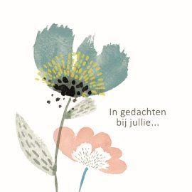 In gedachte bij jullie.. #Hallmark #HallmarkNL #bloem #condoleance #moeilijkemomenten
