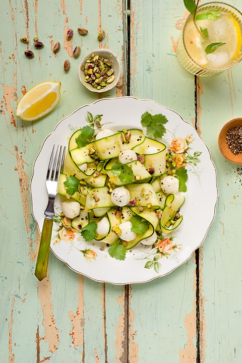 INGREDIENTS BY SAPUTO | We love this healthy lunch recipe idea with zucchini, fresh herbs, pistachio nuts and preserved lemon, starring Saputo Bocconcini!