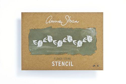 Annie Sloan Stencil Schablone Flower String A4