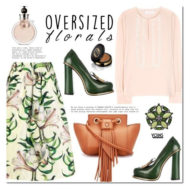 Oversized Florals by mada-malureanu on Polyvore featuring See by Chloé, Gucci, Valentino and oversizedflorals