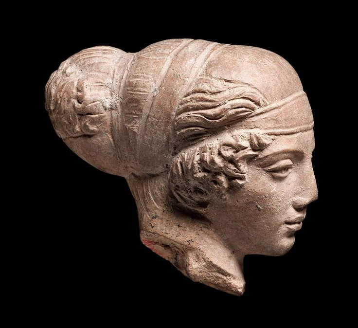 Head of a woman  Greek, Classical Period, about 5th century B.C.