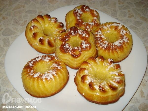 Апельсиновые кексы в силиконовой форме