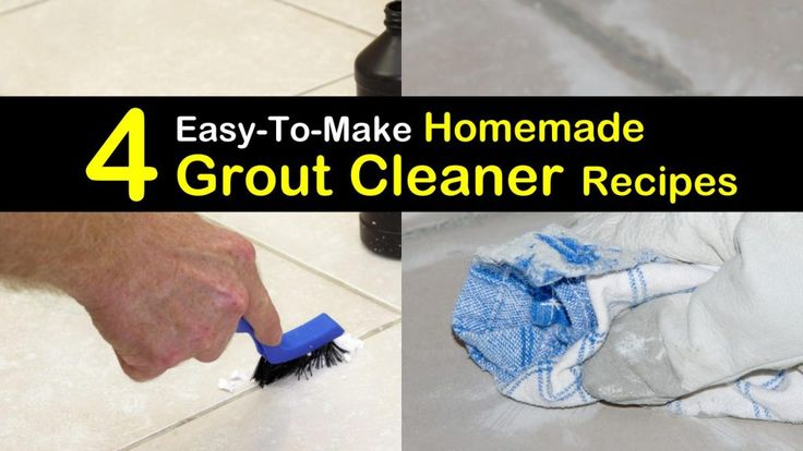 DIY homemade grout cleaner recipes for a scrub and no scrub cleaning of tiles and grouts. Including recipes for shower, floor and other bathroom grout cleaning with natural ingredients e.g. hydrogen peroxide or baking soda. #grout #groutcleaner #diy #homemade #natural