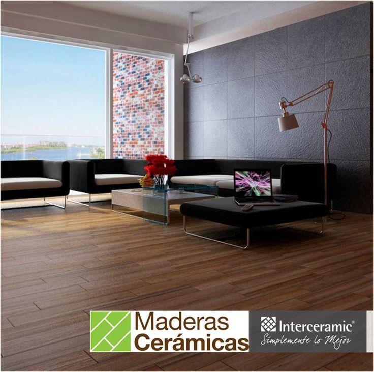 Renueva el #piso de tu casa con la calidad y diseño de la línea Trio Legno de #Interceramic que ofrece #madera similar al nogal.
