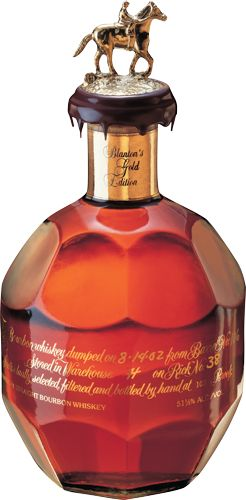 Blanton's Gold-The rich taste of dark fudge, citrus, oak and cream combined with the spiciness of white pepper and rye lead to a long finish that challenges the world's finest single malts and rarest cognacs in complexity and character. Best served neat or with a splash of water. Bottled at 51.5% alcohol by volume.