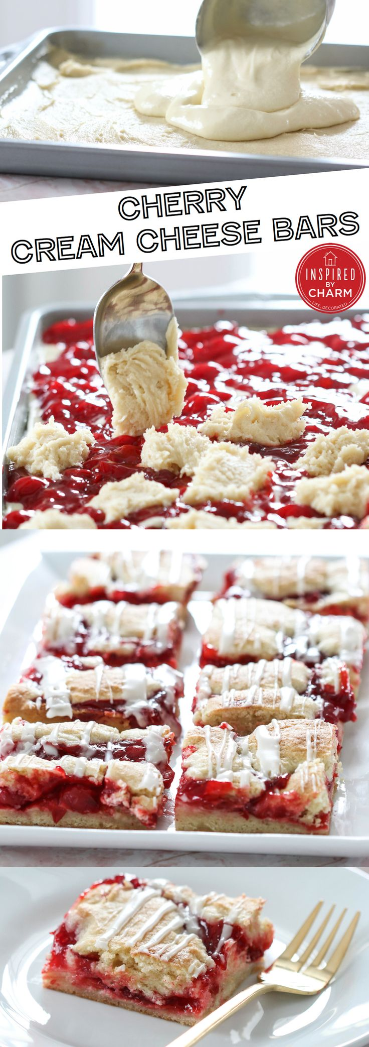 Cherry Cream Cheese Bars - a great breakfast treat or perfect for dessert! Love cherries for the holidays.