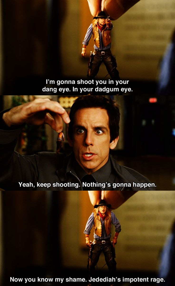 I'm gonna shoot you in the eye ~ Night at the Museum (2006) ~ Movie Quotes #amusementphile