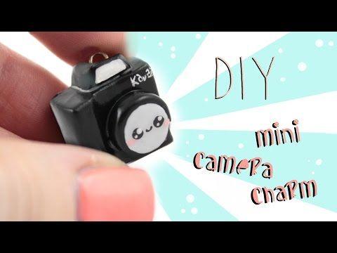 Kawaii Camera polymer clay charm tutorial